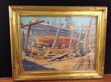 E N Townsend Oil on Board, Framed behind Glass Newcomb Macklin Frame