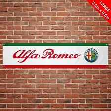 Alfa Romeo Banner Garage Workshop LARGE PVC Sign Track Motorsport Car Display