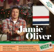 JAMIE OLIVER - HOME CHRISTMAS COLLECTION (6 DVDS + JAMIE APRON) NEW!!! SEALED!!!