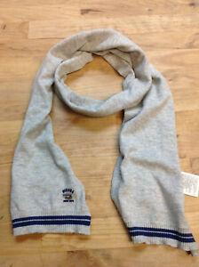 DIESEL Baby Boy's Rigot Knitted Shawl Wrap Scarf, Gray, Size I