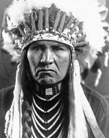 2 Free Promo - Edward S. Curtis Nez Percé man photo ca. 1910 (e1138)