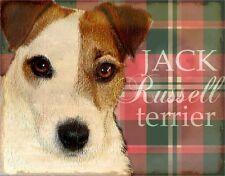 JACK RUSSELL TERRIER  Dog Print Poster-Vintage Look Art by Wendy Presseisen