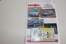 DECALS 1/43 RENAULT CLIO R3 VENTURINI RALLYE MONTE CARLO 2008 RALLY WRC