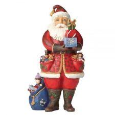 Jim Shore Heartwood Creek As You Wish Santa Holding Presents 4058787
