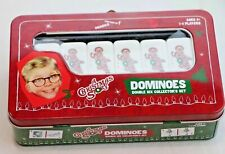 A Christmas Story Dominoes Collectors Tin USAopoly Games COMPLETE