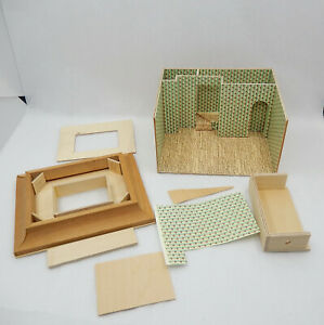 "Vintage Sue Herber 1/4"" Scale Peter Pan Miniature Dollhouse Roombox Kit 1:48"