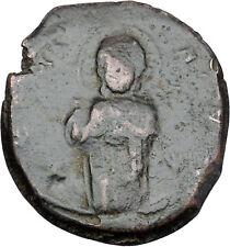 JESUS CHRIST Class C Anonymous Ancient 1034AD Byzantine Follis Coin i48451