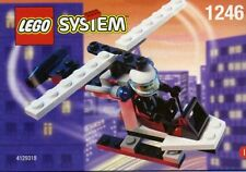 LEGO HELICOPTER 1246 Set Town Police pilot officer minifig