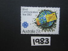 Australian Stamps: 1983  World Communication Year Used