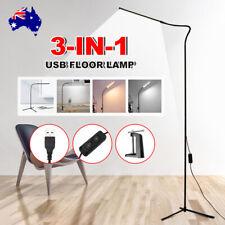 Modern LED Floor Lamp Stand Reading Light Table Desk Lamp Dimmable Adjustable