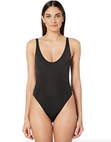 Stella McCartney Black Scoop Neckline One-Piece Swimsuit Women Size M 67858