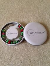 """Chamilia 925 Sterling Silver Snap Bracelet with charms, beads, 9"""""""