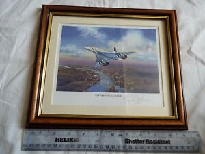 WESTMINSTER CONCORDE SIGNED PICTURE LTD EDITION OF 4,950.  28.5X24.5 cms