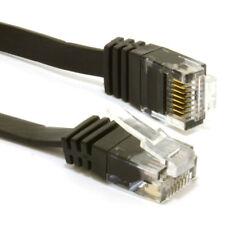 0.5m FLAT CAT6 Ethernet LAN Patch Cable Low Profile GIGABIT RJ45 BLACK [007976]