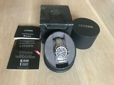 Citizen EcoDrive H500 Stainless Steel Chronograph Mens Watch - Silver/Black