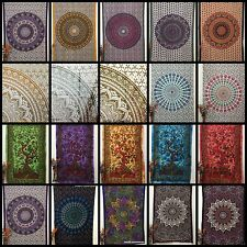 Cotton Twin Indian Tapestries Mandala Wall Hangings Bedding Bedspread Bed-Sheet