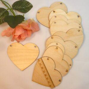 Holz Herzen Herz EHW Naturholz Hölzerne Hochzeit, 6cm, 8cm, 11cm Tischkarte Deko