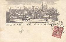 1345) VUE DE LA VILLE DE MILAN DU CORE DE LA PORTA TICINESE.