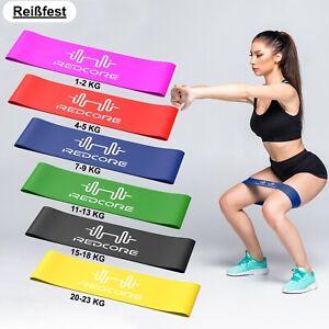 Fitnessband 6er Set Fitnessbänder Widerstandsband 6 Stärken Resistanceband (NEU)
