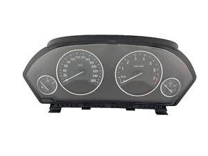 2014 BMW 320i Speedometer KM/H Instrument 118K Cluster A2C53346049 OEM