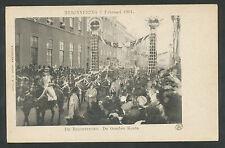 Huwelijk koningin Wilhelmina 7 februari 1901  De bruidsstoet, De Gouden Koets