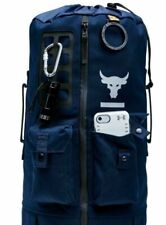 Under Armour Project Rock 60 Gym Bag Duffel Bag Backpack Blue 1345663-408
