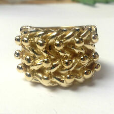 "SOLID HUGE 3 ROW KEEPER RING 50g QUALITY HIGH POLISH JEWELLERS BRONZE ""SIZE Z+6"""