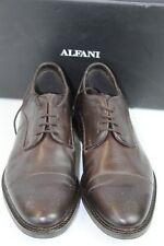 Alfani Paul Brown Leather Cap Toe Oxford Mens Dress Shoes US 10 M $99