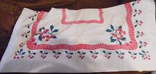 Vintage Tablecloth with Cherry / Cherries