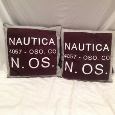 Set of 2 Nautica 14x14 Throw Pillows Room Decor 4057-OSO. CO N. OS.