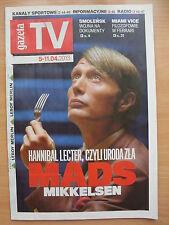 GAZETA TV front MADS MIKKELSEN / Hannibal