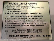 SUZUKI GS1000 GS1000E GS1000G FRONT FORK AIR SUSPENSION CAUTION WARNING LABEL