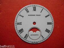 Cadran blanc peint montre ancienne Audemars Piguet  automatic lune vintage .dial