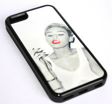 for iPhone 5C - Miley Cyrus Short Hair Hard Premium TPU Rubber Gummy Case Cover