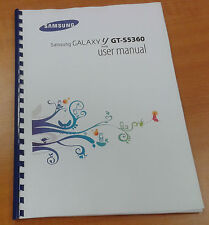 SAMSUNG GALAXY Y S5360 135 PAGES FULL PRINTED USER MANUAL GUIDE INSTRUCTIONS A5