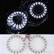 2X 100MM SMD LED Angel Eyes Halo ring light Daytime Running Light bulbs white