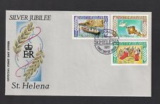 7/2/1977 ST HELENA  SILVER JUBILEE SET-OFFICIAL FDC