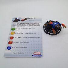 Heroclix Captain America set Capwolf #061 Chase figure w/card!
