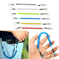 Fishing Lanyard Spring Rope Accessories Plastic Retractable Anti-lost Carabiner