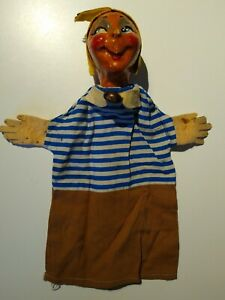 Vintage Paper Mache Hand Puppet Antique Hand Painted See Photos FREE US SHIPPING
