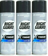 (3) Right Guard Xtreme Cooling Antiperspirant Deodorant Aerosol Spray, Chill, 6