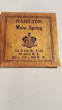 M.B. 3D X 12 1/2 / 100.M.M Hamilton 12/0 Size No. 4128 , 19 Jewel
