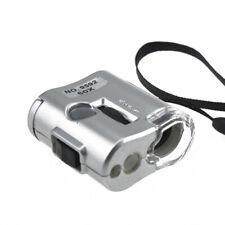 New Mini Pocket Jeweller 60X Microscope Jewelry Magnifier Loupe Glass LED Light