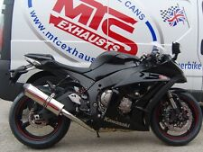 Kawasaki ZX10R 2008-10' Stainless Oval Carbon outlet ROAD LEGAL MTC Exhaust