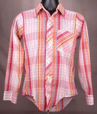 Vtg KAYNEE Western Shirt-Plaid-Size 18-Multi Color-Button Up-Cowboy Ranch-Red...