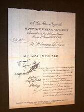 Rapporto del Ministro Tesoro a Eugenio Napoleone Viceré d'Italia Muoni di Milano