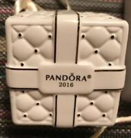 PANDORA Christmas Ornament PORCELAIN Velvet Pouch Empty Gift Box