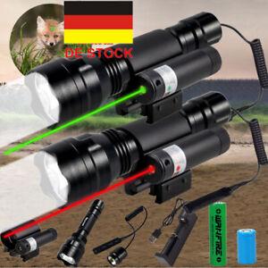 Combo Grün/Rot Laser Sight Taschenlampe LED 20mm Picatinny Schiene Schalter