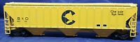 ATHEARN B&O 603136 3 BAY COVERED HOPPER CHESSIE SYSTEM YELLOW HO SCALE - VINTAGE
