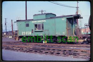 Original Slide, PC Penn Central Caboose #23658, in 1970
